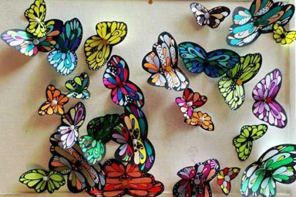 sommerfugl til print