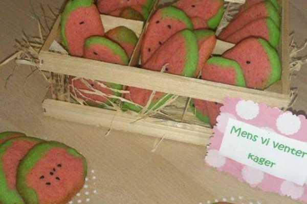 Vandmelon fest, frugt, kage, fødselsdag, barnedåb