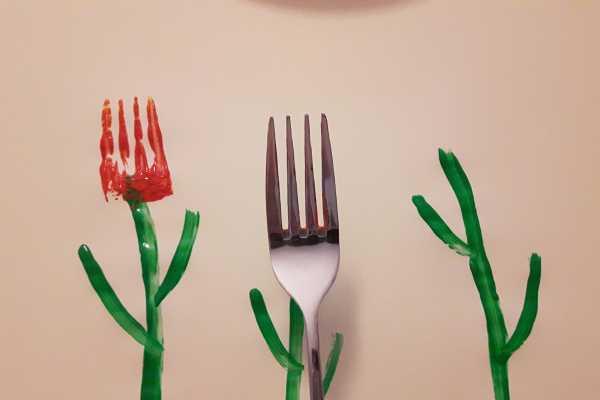 Gaffel, fork, tulipan, tulips