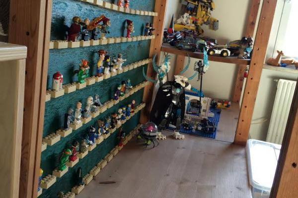 LEGO, træ, udstilling, indretning, værelse