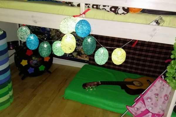 vandballoner, lyskæde, lights, garn