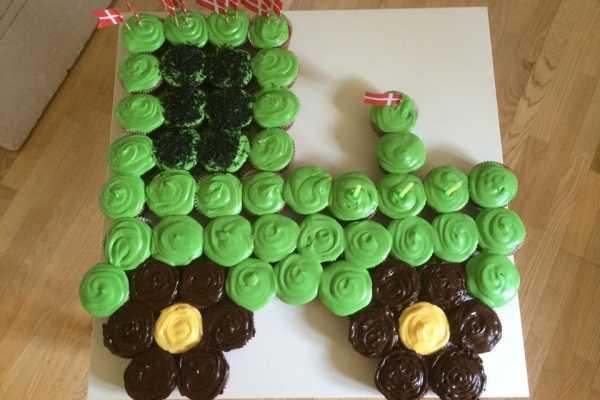 John Deere, traktor, børnefødselsdag, kage, muffins, cupcakes