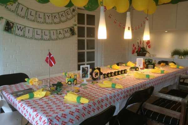 John Deere, traktor, børnefødselsdag, borddækning,