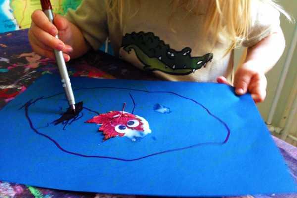 Lav en tegning med efterårsblade på