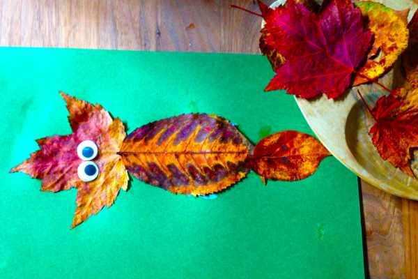 Lav en fin ræv af efterårsblade