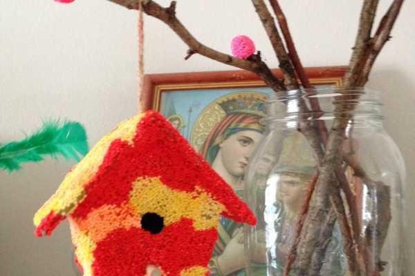 foam clay, pynt, boligpynt, kreativ med ungerne, kreative ideer, fuglehus