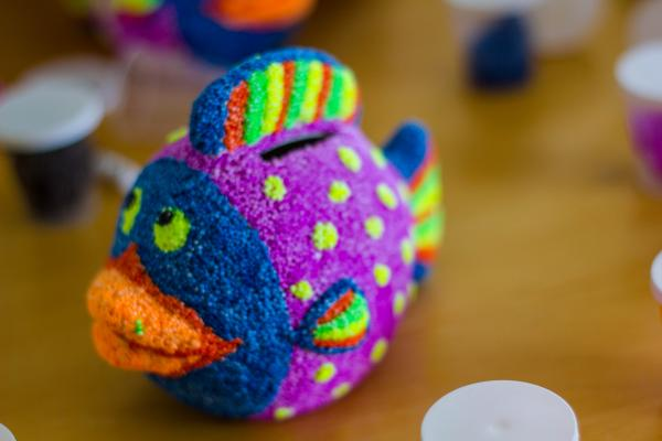 foam clay, pynt, boligpynt, kreativ med ungerne, kreative ideer, fisk