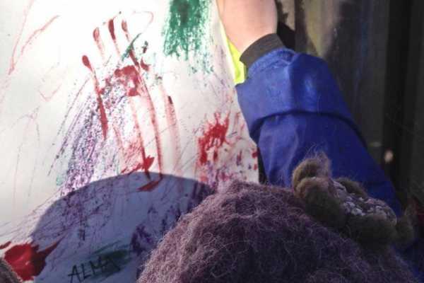 frossen vandfarve akvarelmaling