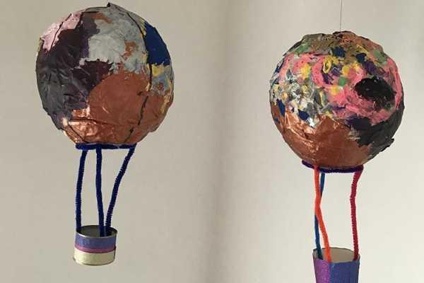 luftballon i papmache
