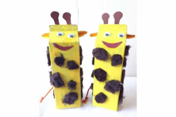 Giraf, Mælkekarton, Kreative idéer, Genbrug
