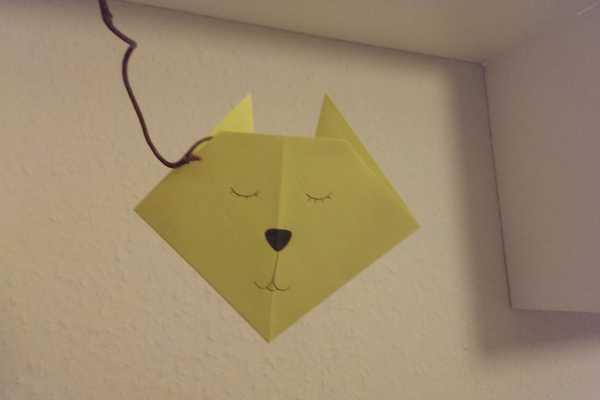 fastelavn, kat, ophæng, origami kat, origami,