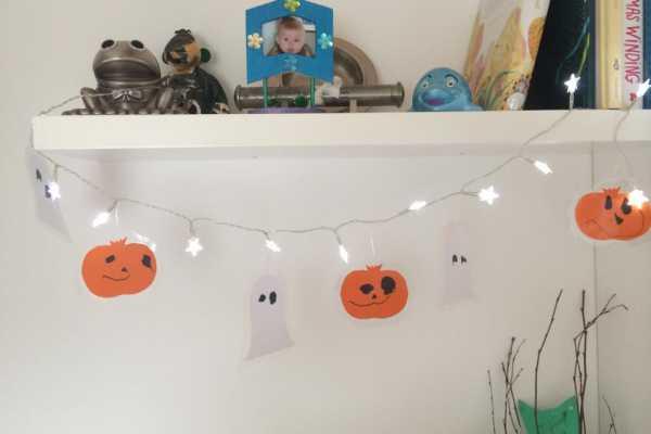 Fin Lyskæde med halloween-pynt | Kreativ med ungerne AE-73