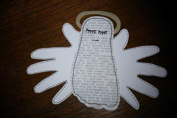 engel af hånd og fodaftryk