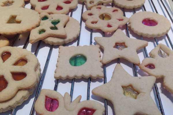 julekager med knuste bolsjer