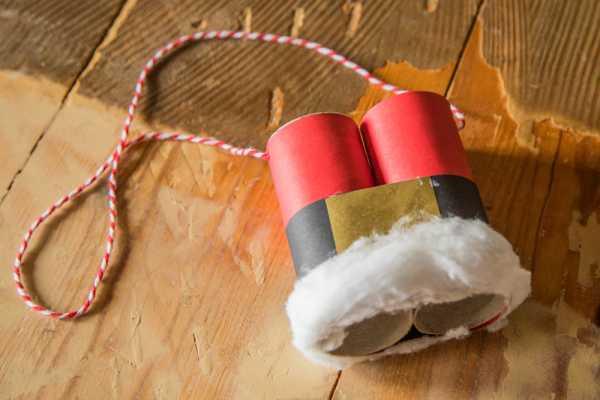 julemandens kikkert af toiletrullerør, kreative idéer til børn