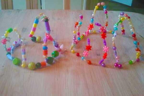 Prinsessekrone af perler og ståltråd