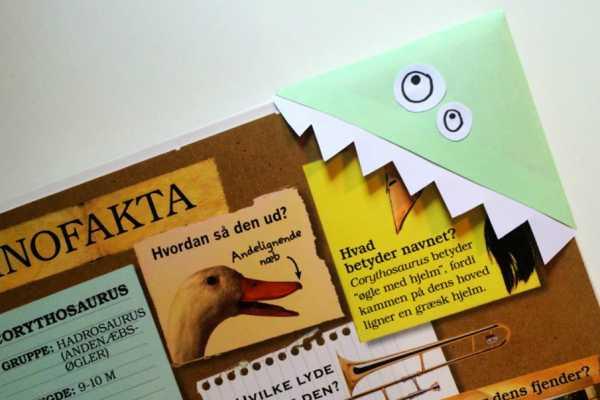 Fold monsterbogmærker af papir