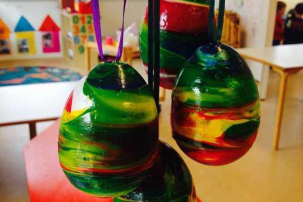 multicolor påskeæg