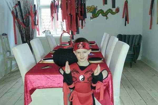 Pynt, bordpynt, udklædning, Ninja, ninjago, asien, asiatisk