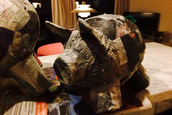papmache, gris, sparegris, genbrug, ballon