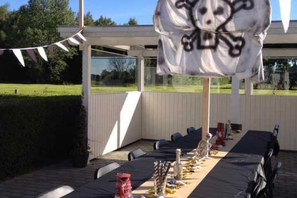 Piratfødselsdag, børnefødselsdag, bordpynt til børnefødseldag