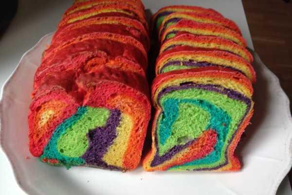 børnefødselsdag, regnbuefødselsdag, regnbuebrød