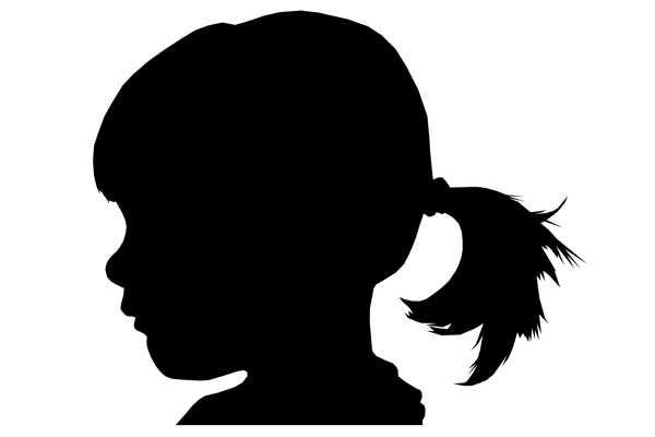 silhouette, sort