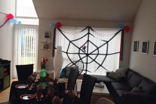 Spiderman, fødselsdag, pynt, oppyntning