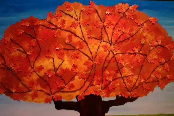 stamtræ af pinde fra naturen