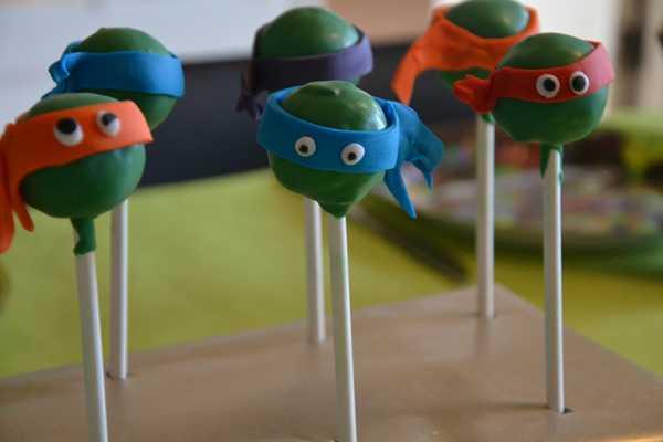 kage, cakepops, turtles, TMNT, birthday,