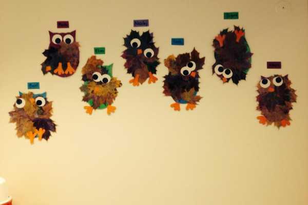 Ugle, blade, efterår, kreativ med ungerne, kreative ideer