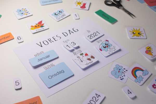 kalender, ugekalender, kreative idéer til børn