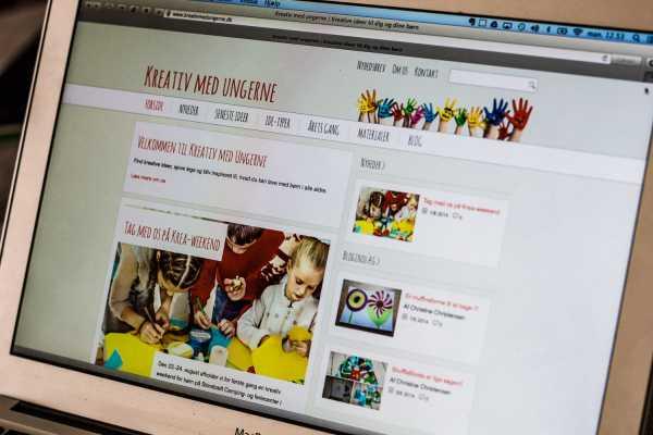 Foto af hjemmesiden Kreativ med Ungerne