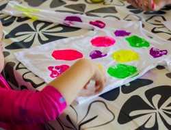 Aftryk, Stempel, Kreativ med ungerne, børneaftryk, kreaweekend, stoftryk
