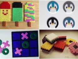 mønstre til perleplade med rørperler og hamaperler