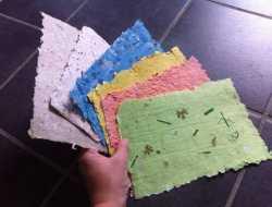 hjemmelavet papir lav selv papir ud af papirrester