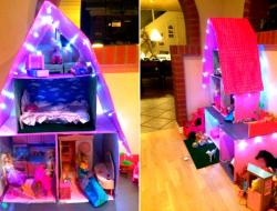 Barbie hus af pap barbie house made of cardboard