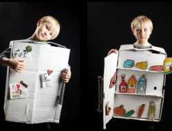 Kostume køleskab, fastelavnskostume, kreative idéer til børn