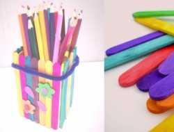 blyantsholder af ispinde