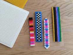 Bogmærke, perleplade, rørperler, hamaperler, kreativ med ungerne