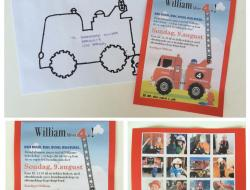 Falck, invitation, brandbil
