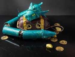 drage og skattekiste ud af genbrugsmateriale