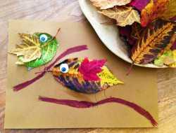 Lav en fin fugl af efterårsblade