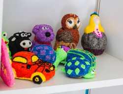 foam clay, pynt, boligpynt, kreativ med ungerne, kreative ideer, figurer
