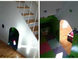 hule under trappe
