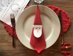 Print-selv servietring til julebordet julemand