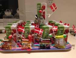 Juice-mænd til uddeling til børnefødselsdag i børnehaven
