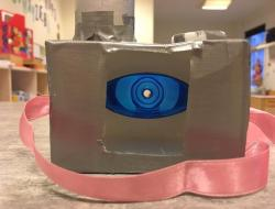 kamera til børn af genbrugsmaterialer