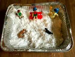 kunstig sne til børn