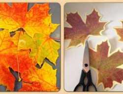 Efterårsblade, blade, laminering, kreative ideer, kreativ med ungerne